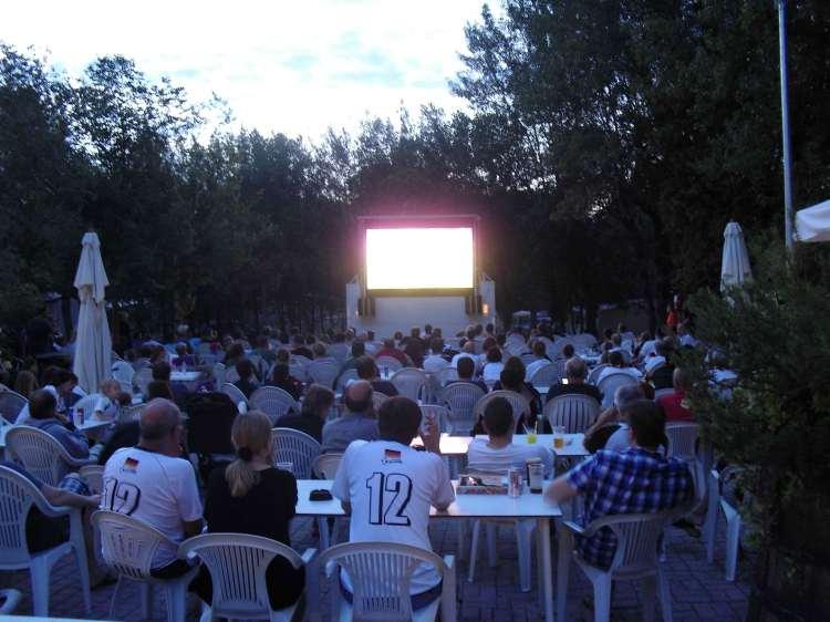 Big screen at Camping Ca' Savio