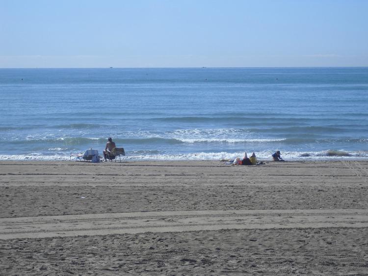 morning beach relax