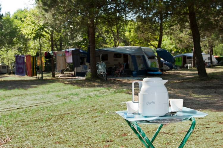 Camping coffee at Ca' Savio