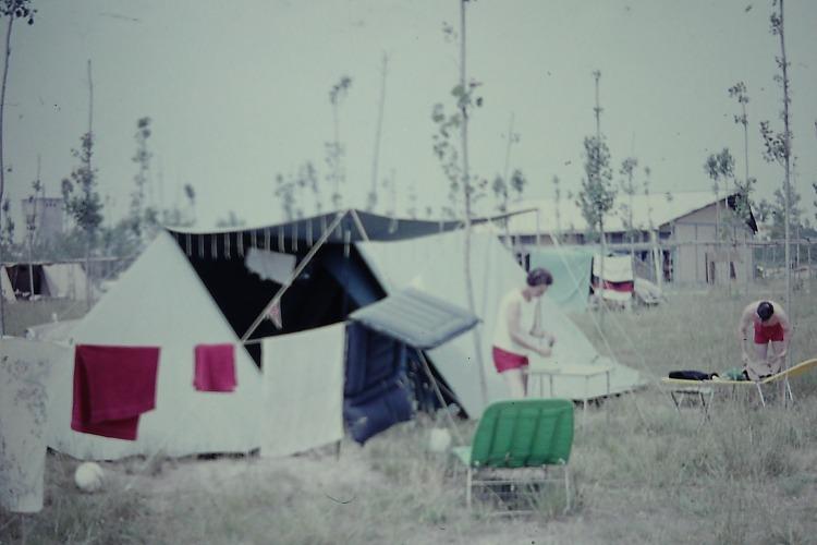 Ca' Savio tent in 1959