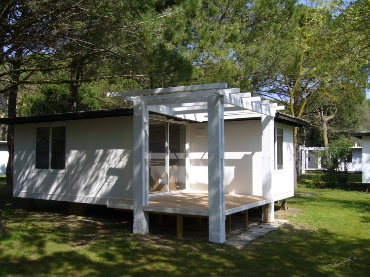 Camping Ca Savio in Cavallino chalets renovated with airco