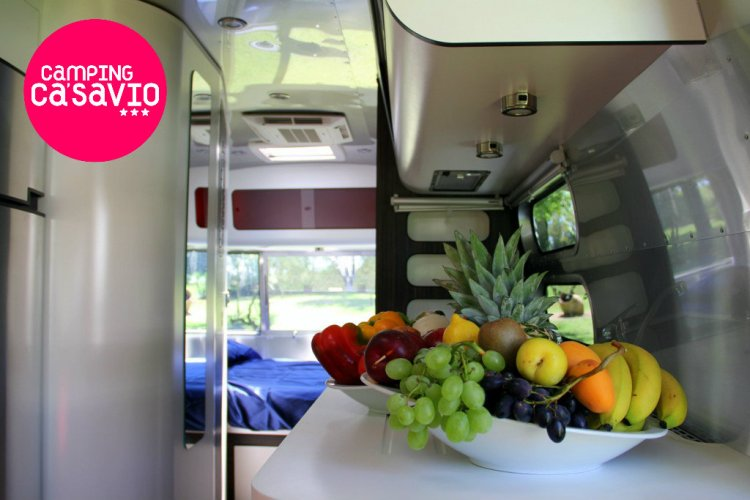 Airstream at Camping Ca' Savio: kitchen