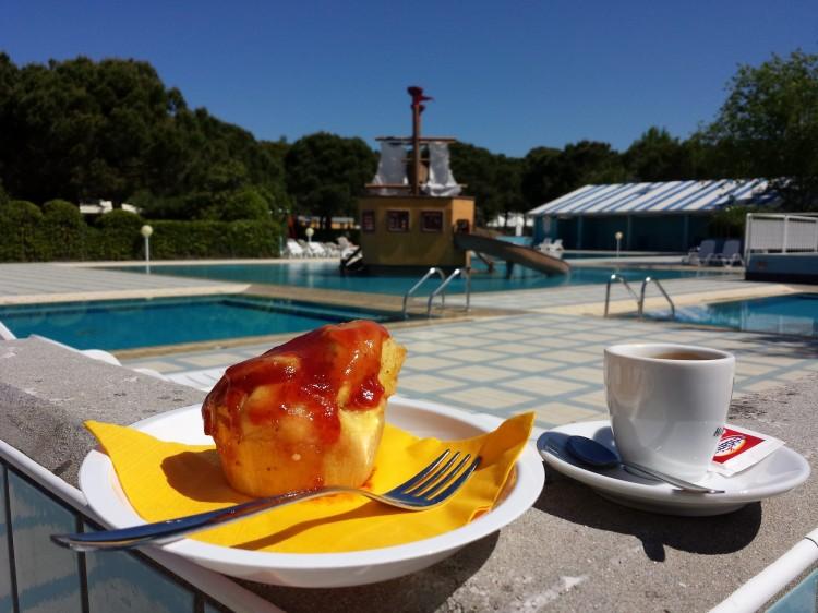 Coffee at Camping Ca' Savio