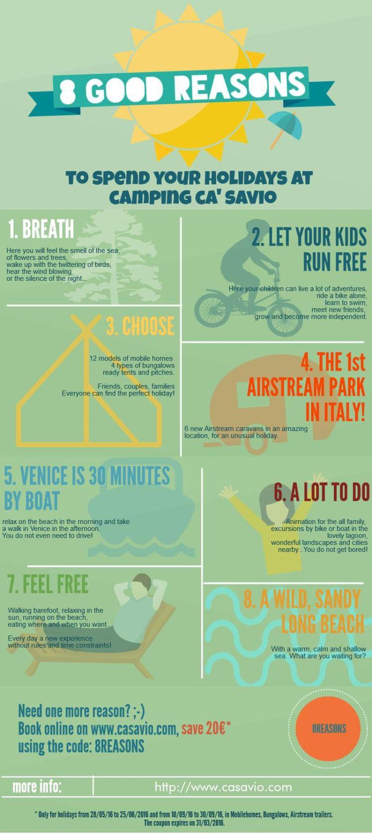 8 reasons to choose Camping Ca' Savio