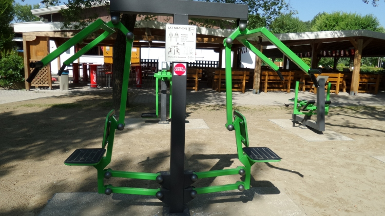lat machine - open-air fitness ca' savio