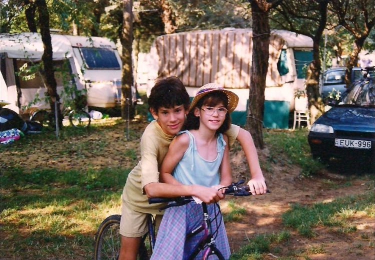 Levente and his sister in 1996